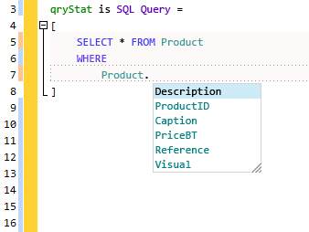 The assisted SQL input