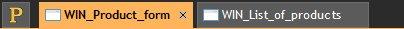 Open document tabs
