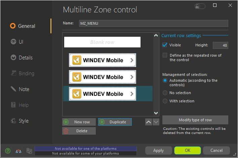 Multiline Zone control