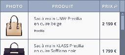 2 exemples de marges mises en place dans des cellules de table