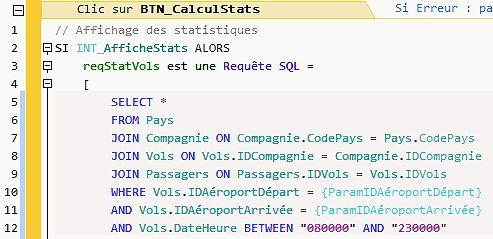Du code SQL directement dans un bouton !