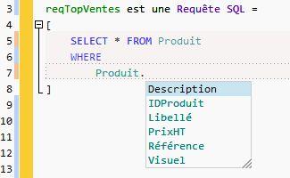 La saisie SQL assistée