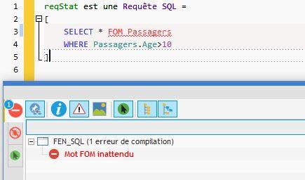 Erreur de code SQL détectée en saisie