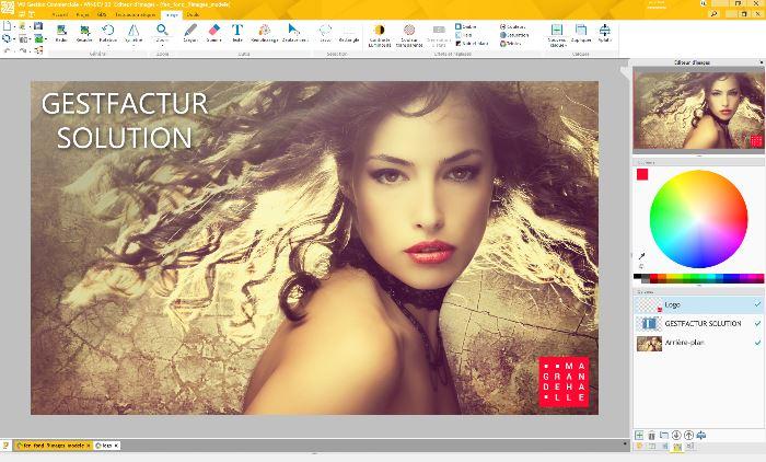 L'éditeur d'images de la version 22