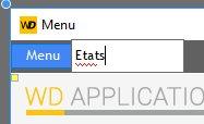 Création d'une option de menu
