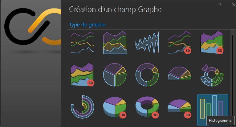 Assistant de création d'un champ Graphe