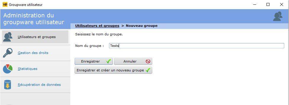 Configuration du groupware