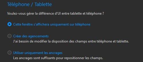 Différences tablette/téléphone