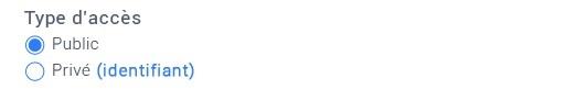 Un sélecteur dont le titre est gras et dont un libellé d'option contient un lien