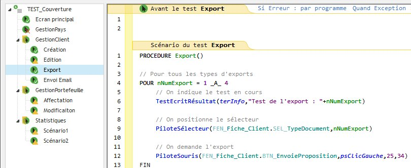 Editeur de tests : interface simplifiée