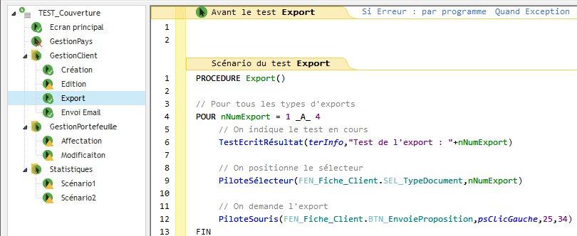 Editeur de tests: interface simplifiée